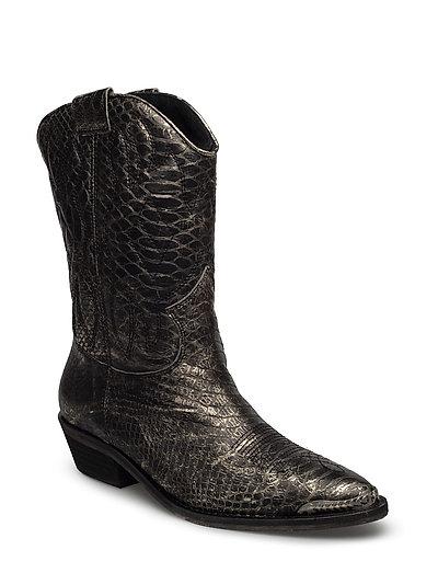 High boot - SILVER SNAKE