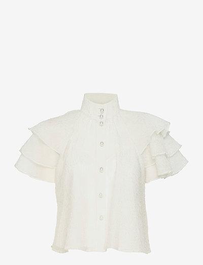 Obia - kortärmade blusar - whisper white
