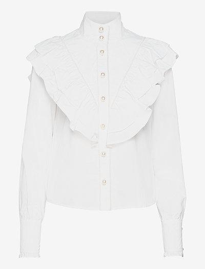 Bibi - långärmade blusar - bright white