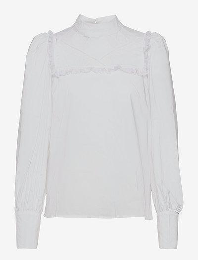 Delphi - langærmede bluser - bright white