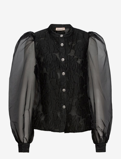 Daisy - long sleeved blouses - anthracite black