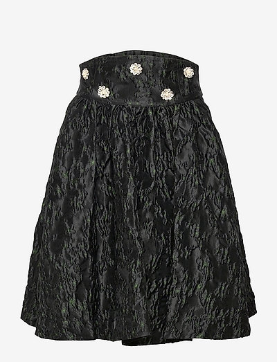 Saloma BY NBS - short skirts - anthracite black