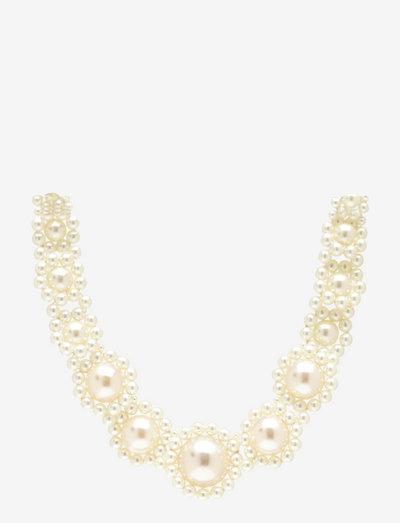 Zoey Pearl Necklace - halskedjor - whisper white