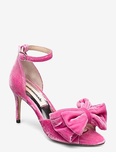 Marita Velvet - högklackade sandaler - fuchsia pink