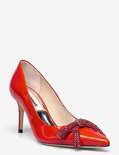 Aljo Patent Crystal Bow - klassiska pumps - persian red