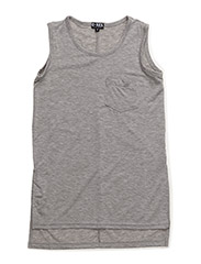 LUISE LONG TOP - LIGHT GREY MELANGE