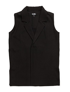JENNI LONG VEST - BLACK