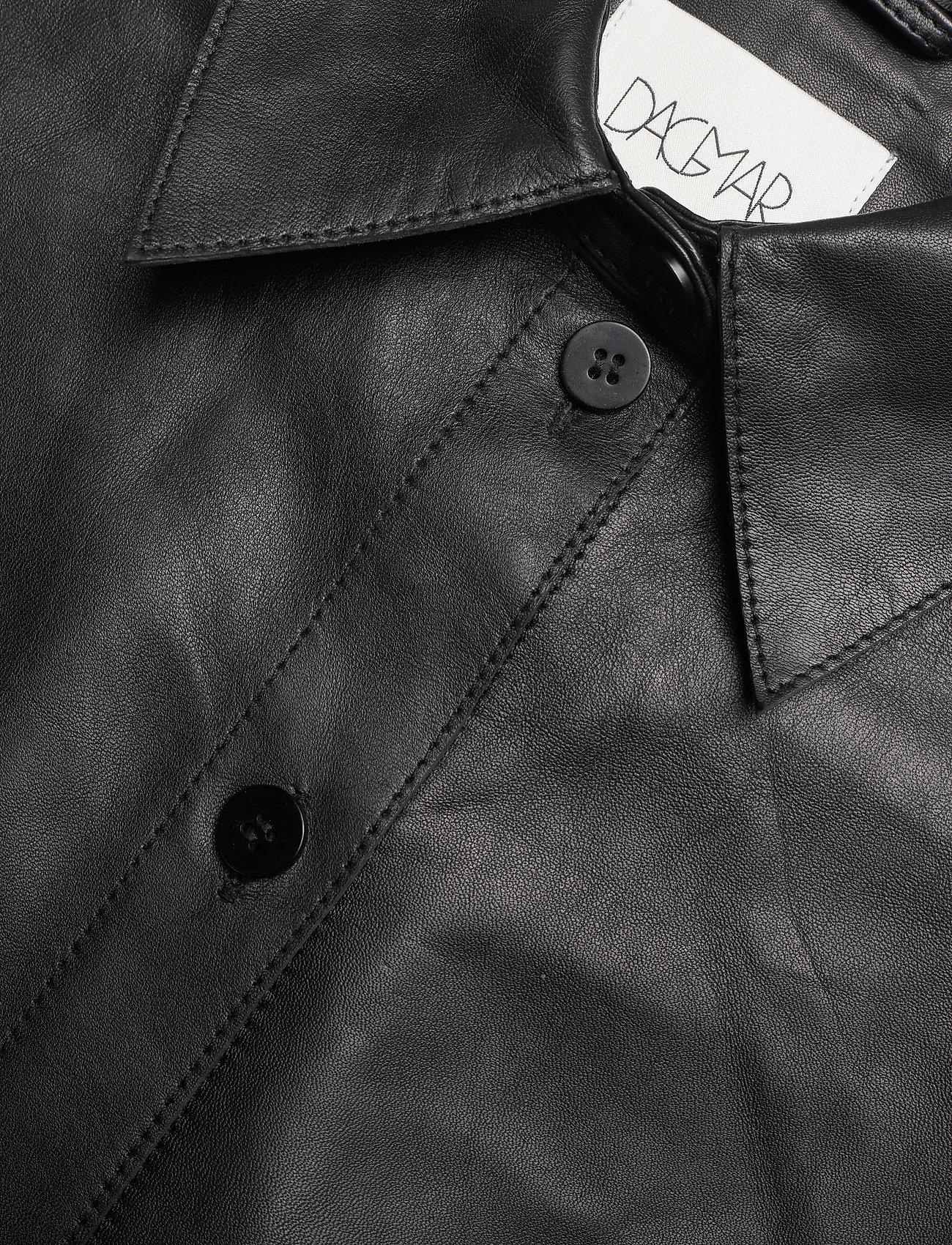 Dagmar - Gina leather - langærmede skjorter - black - 2