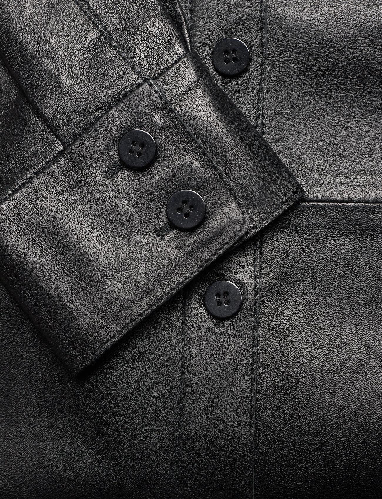 Dagmar - Gina leather - langærmede skjorter - black - 3