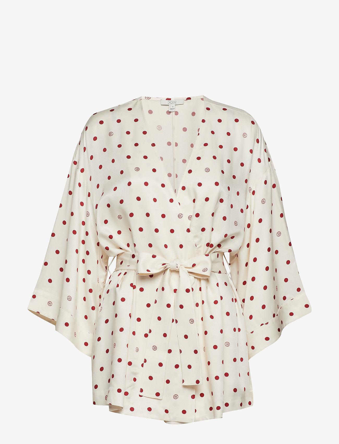 Dagmar - Alanis - kimona - off white + burgundy dot - 0