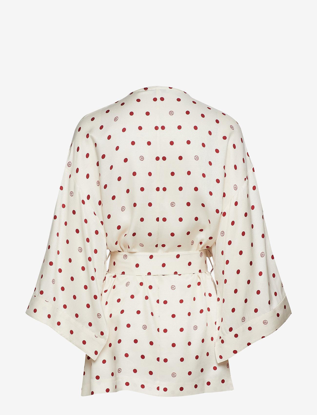 Dagmar - Alanis - kimonoer - off white + burgundy dot - 1