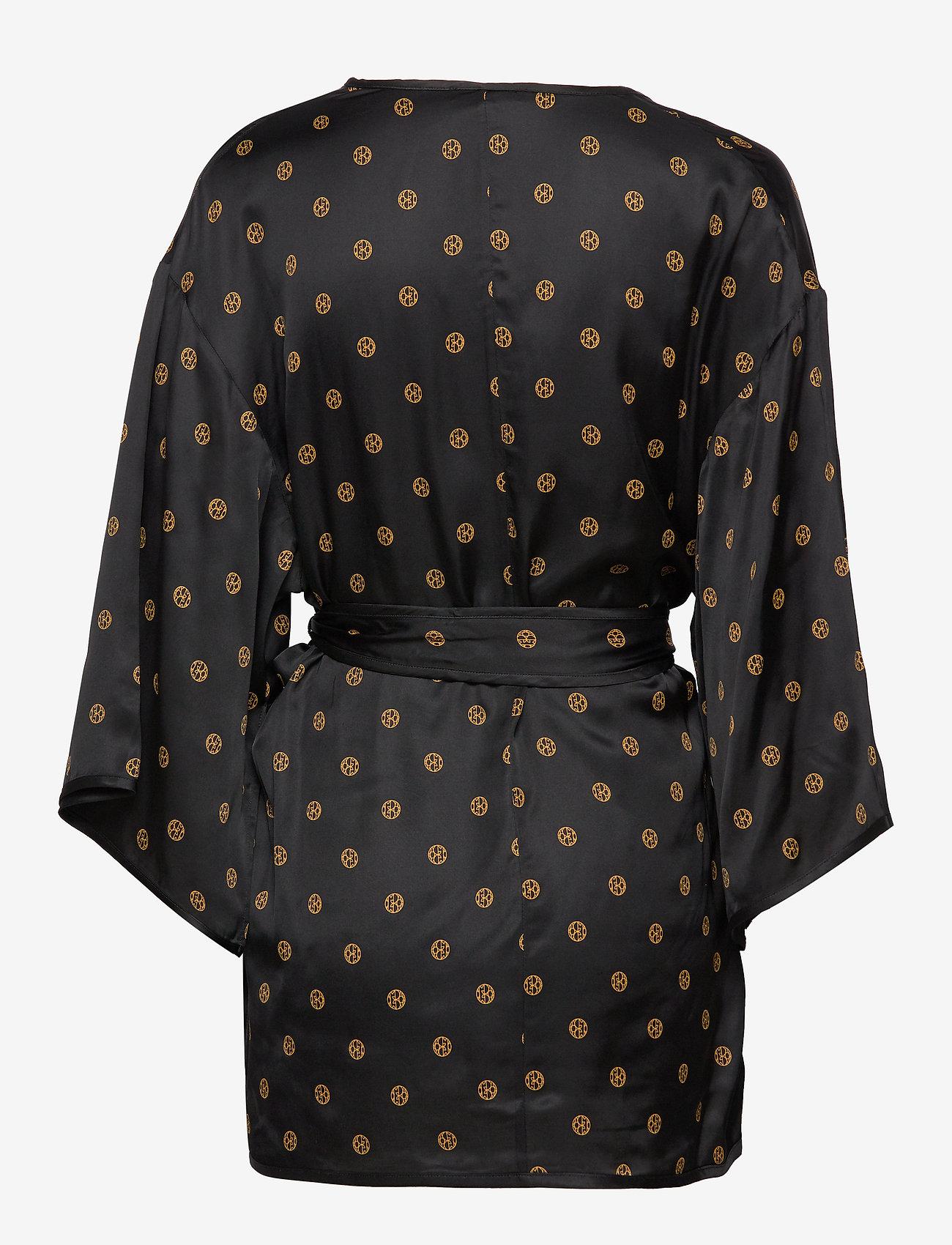 Dagmar - Alanis - kimonoer - black print - 1