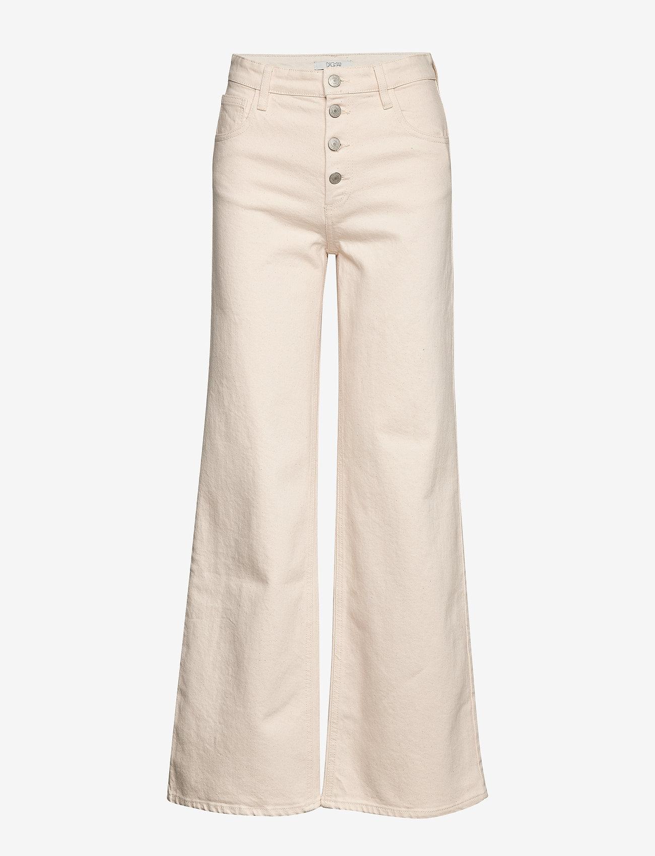 Dagmar - Peggy - utsvängda jeans - ecru - 0