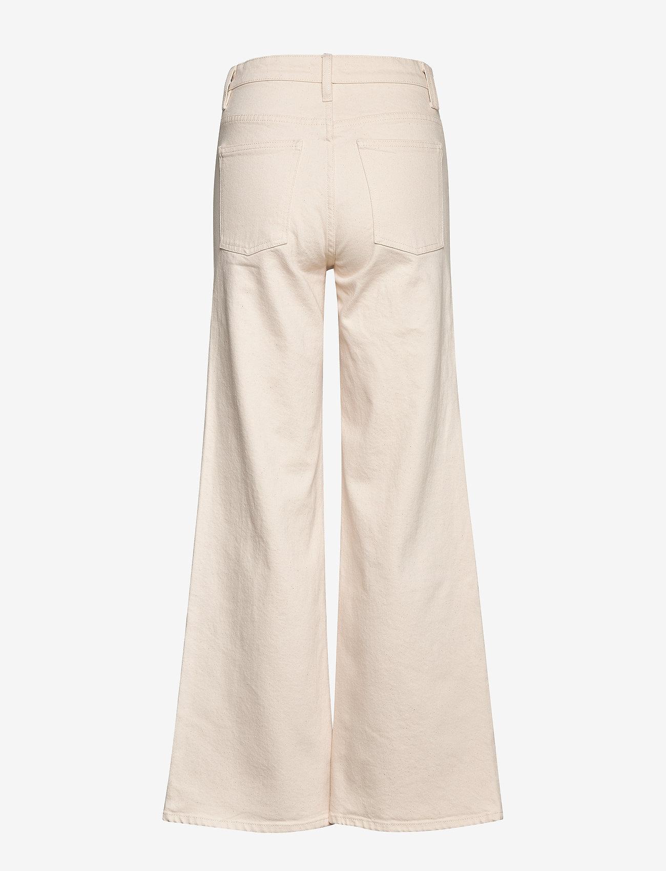 Dagmar - Peggy - utsvängda jeans - ecru - 1
