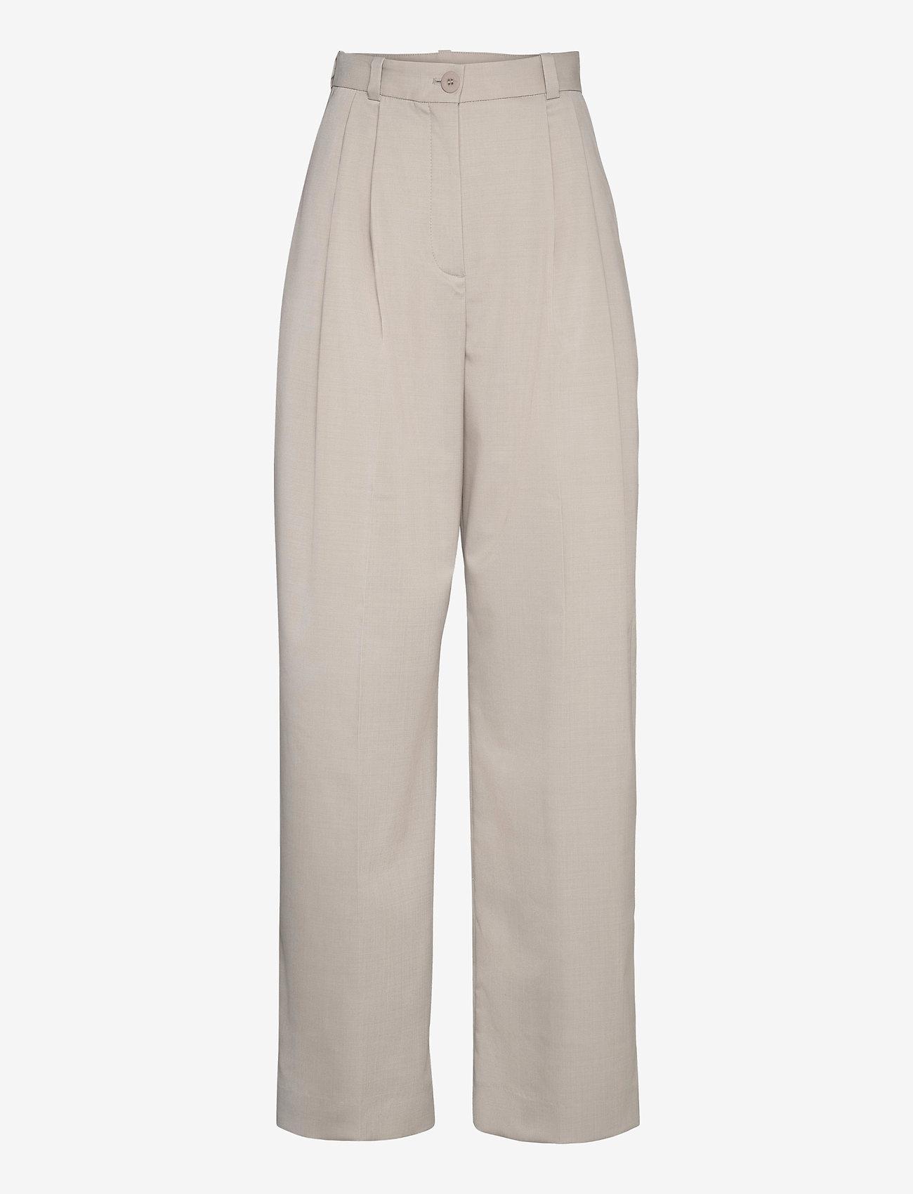 Dagmar - Valentina - spodnie szerokie - light grey - 0