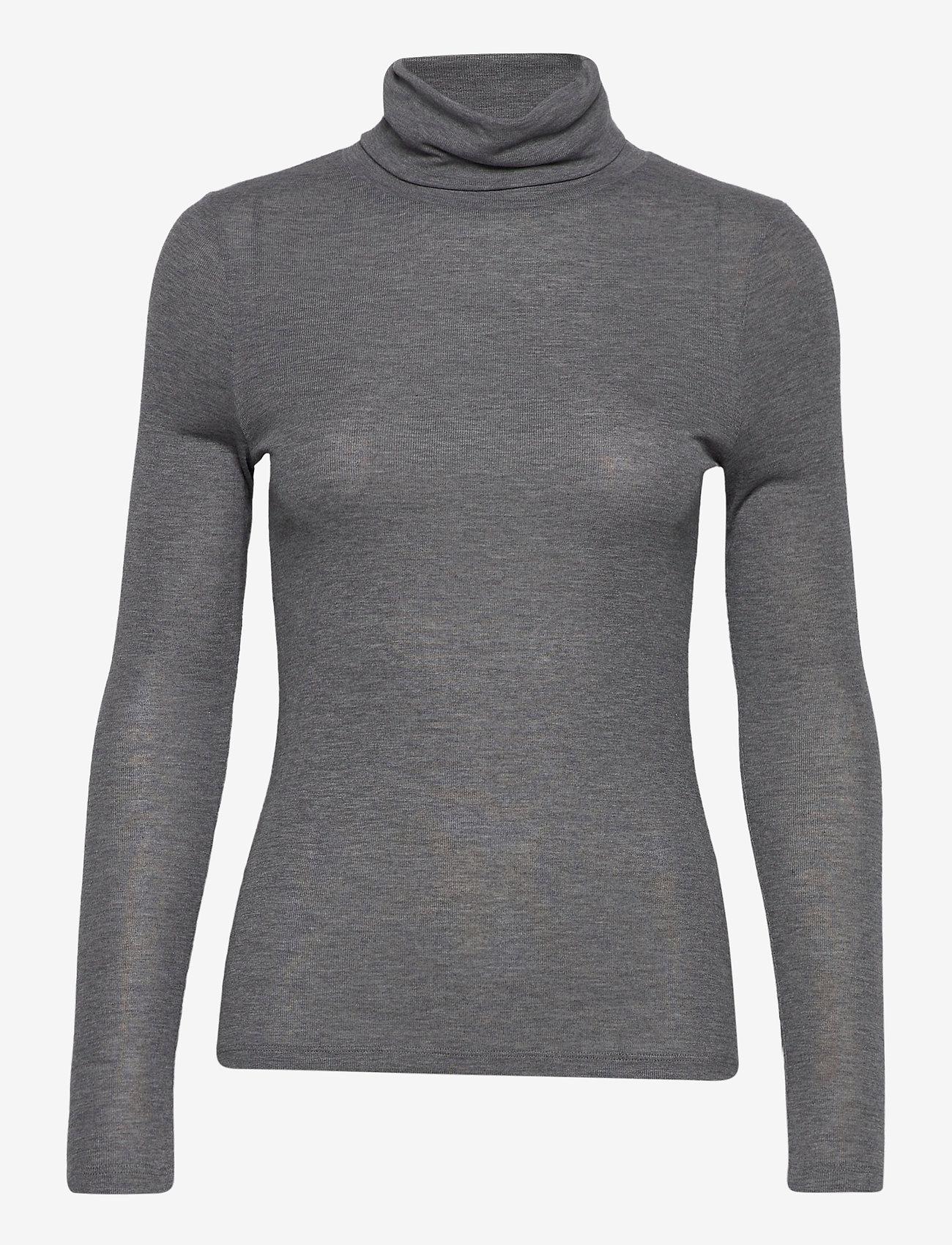 Dagmar - Remi - t-shirts - dark grey melange - 0