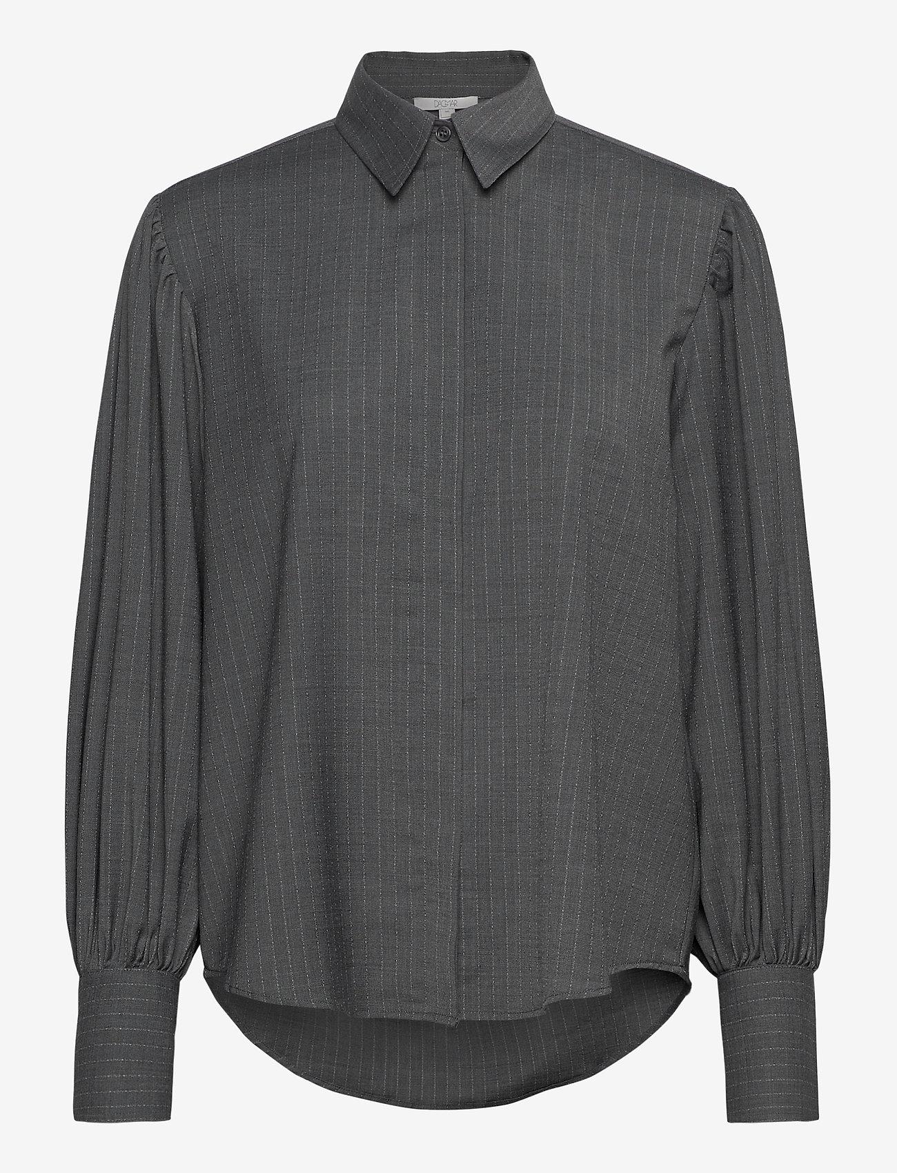 Dagmar - Melisa pinstripe - langærmede skjorter - grey pinstripe - 0