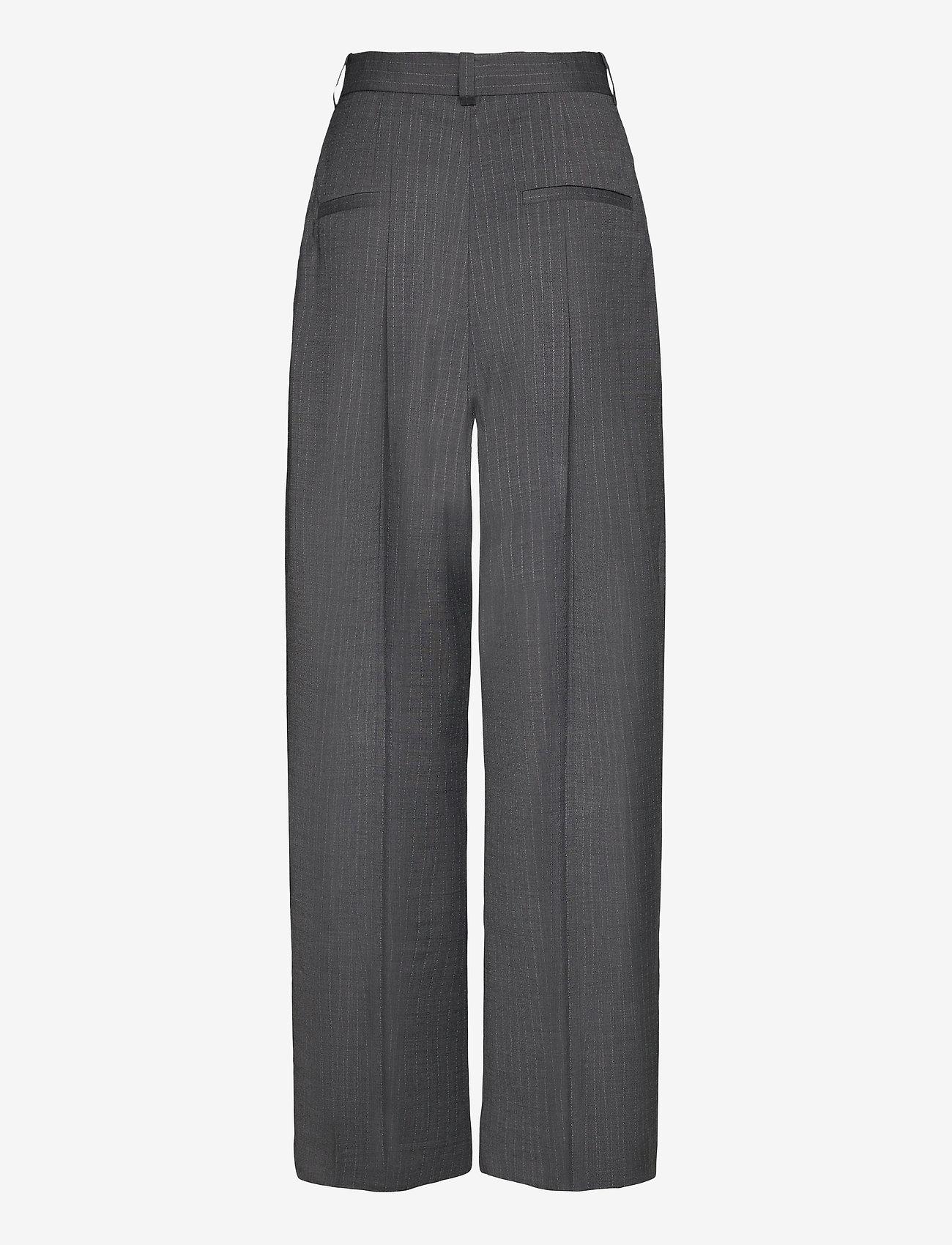Dagmar - Valentina pinstripe - straight leg trousers - grey pinstripe - 1