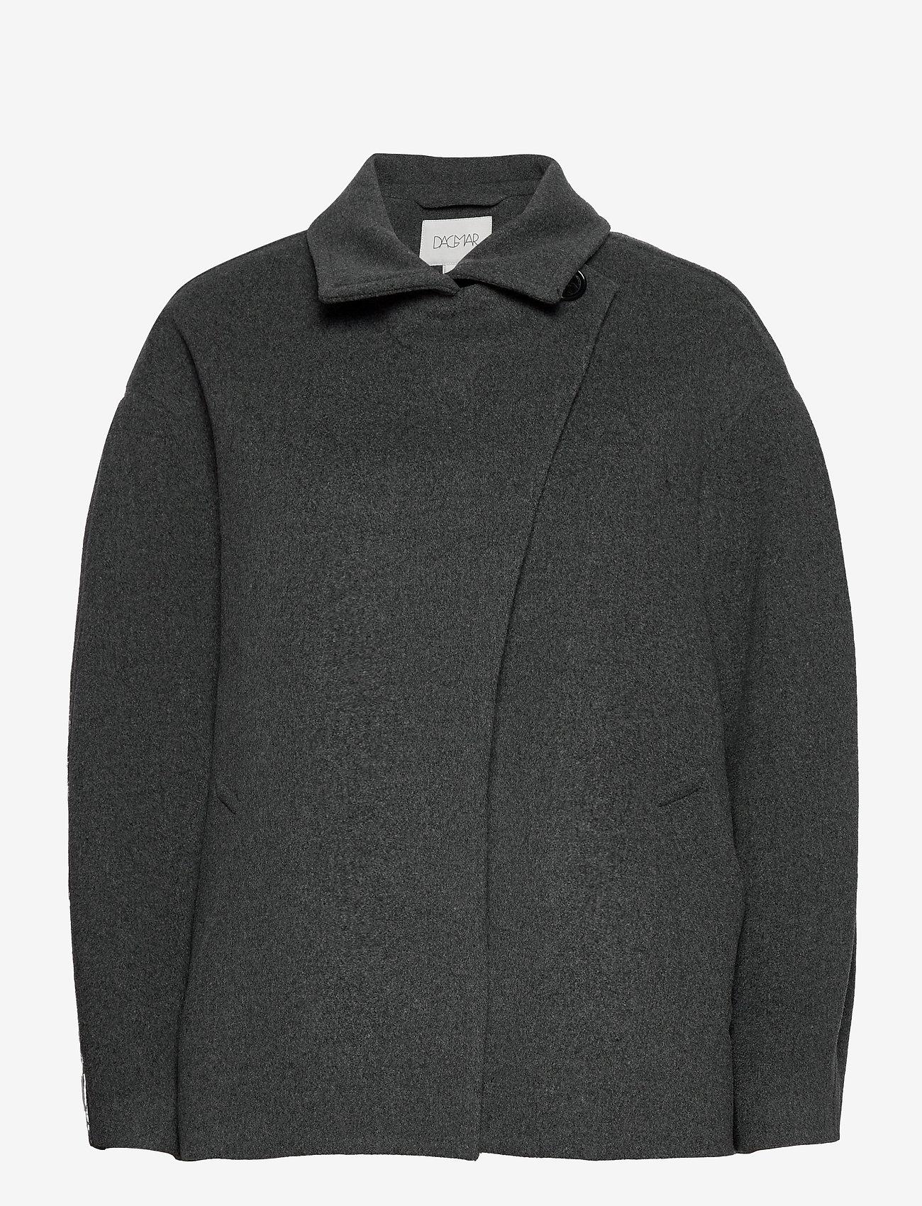 Dagmar - Velma - wool jackets - grey melange - 1