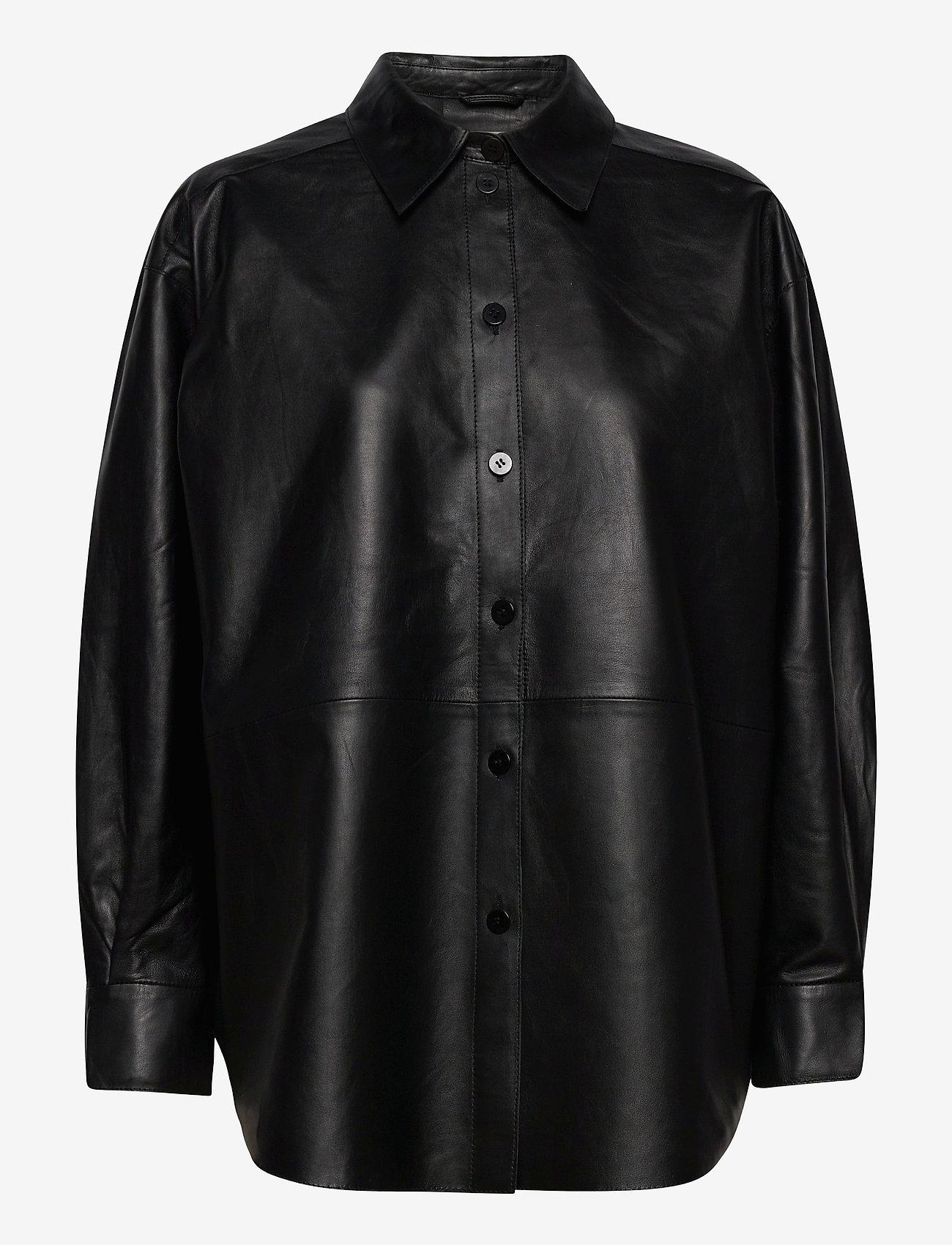 Dagmar - Gina leather - langærmede skjorter - black - 0