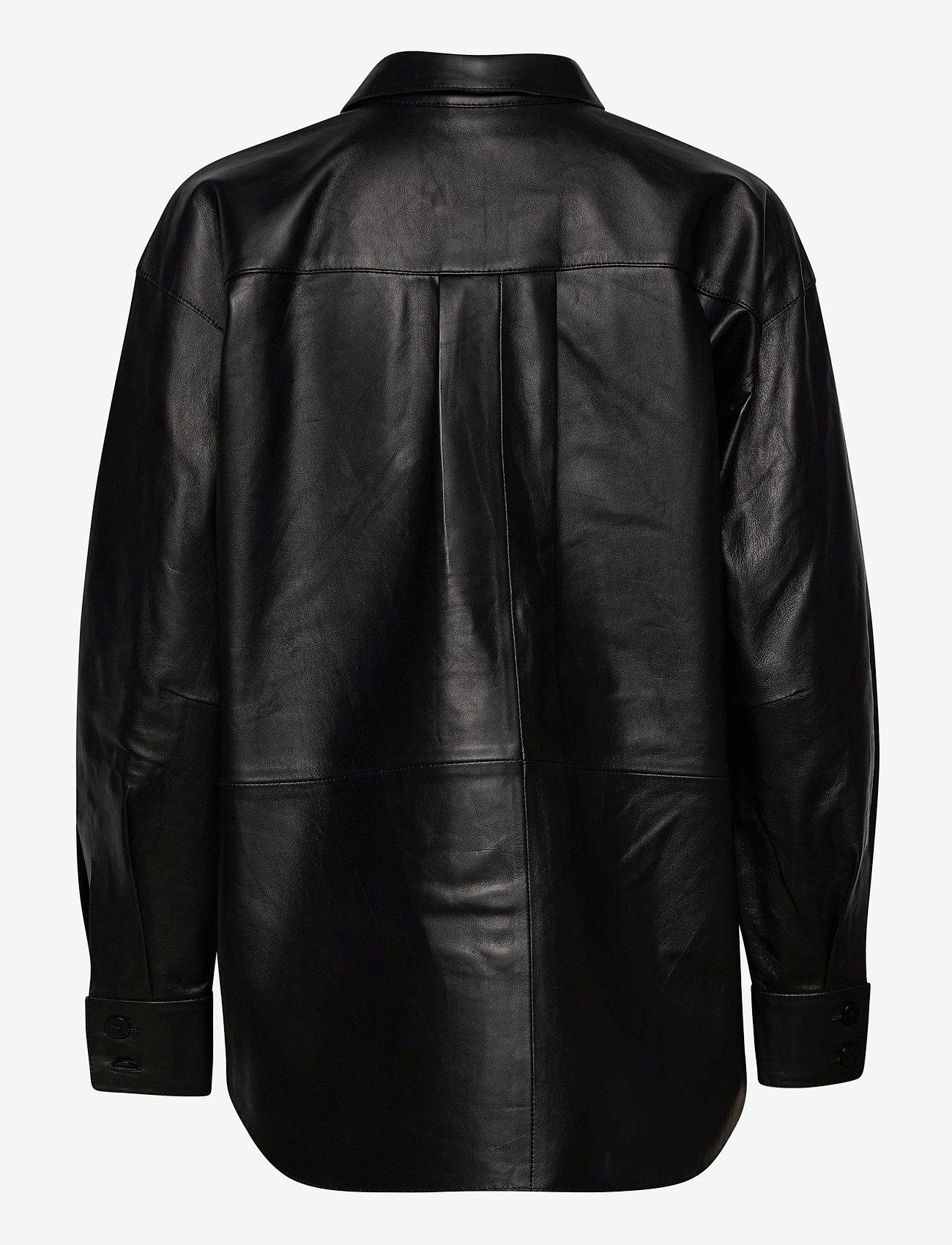Dagmar - Gina leather - langærmede skjorter - black - 1