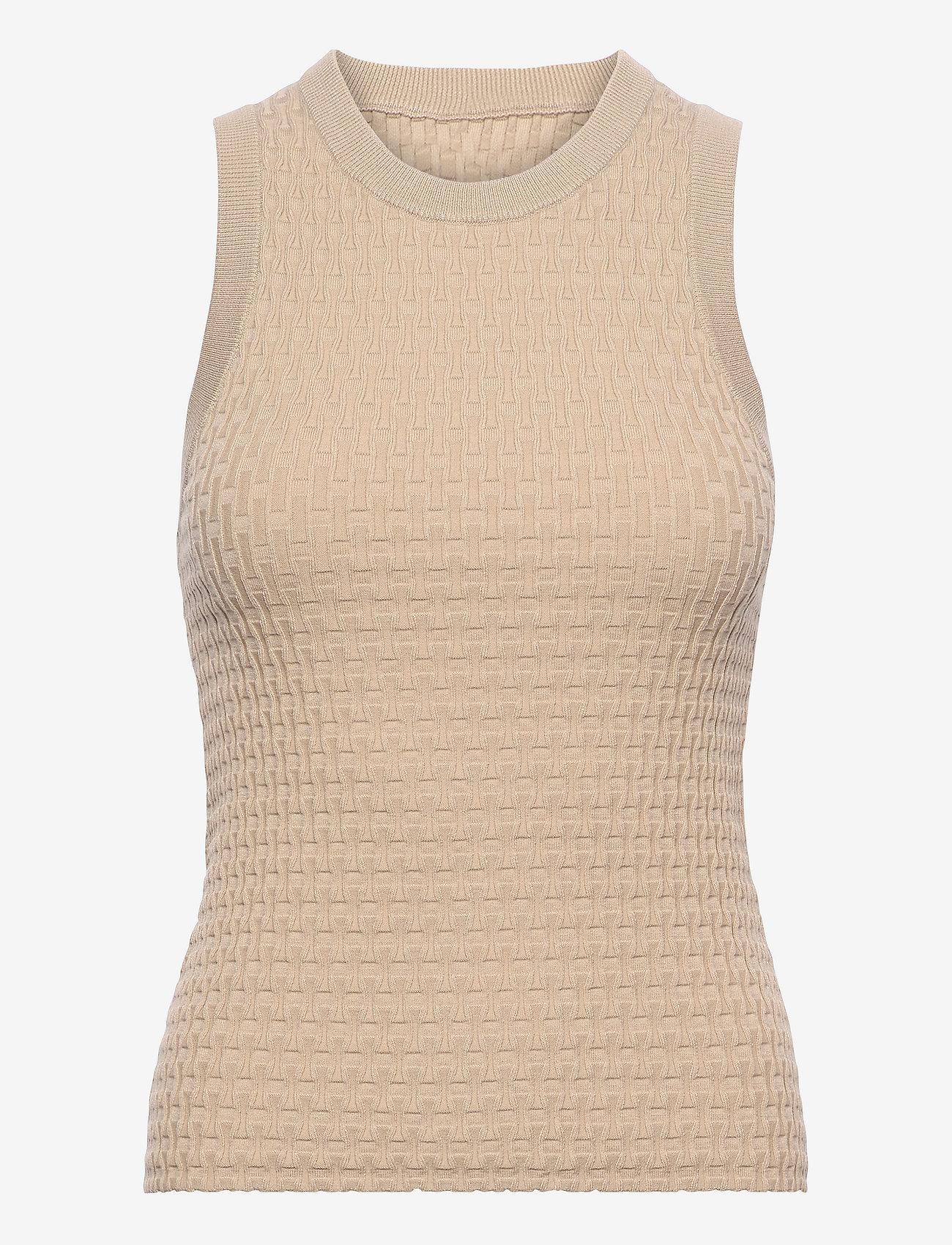 Dagmar - Renna - knitted vests - oat - 0