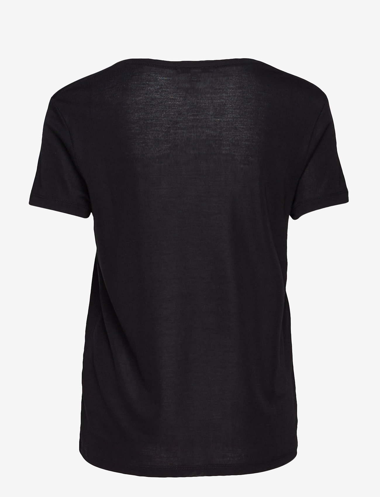 Dagmar - Upama rib top - t-shirts - black - 1