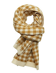 Dog tooth scarf - MUSTARD CHECK