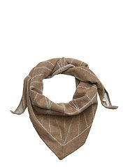 Grid scarf - CAMEL