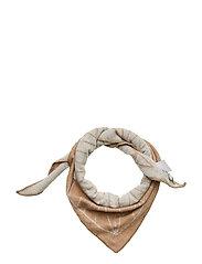 Grid scarf small - CAMEL
