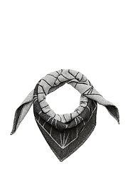 Grid scarf small - GREY MELANGE