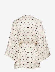 Dagmar - Alanis - kimona - off white + burgundy dot - 1