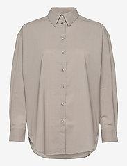Dagmar - Gina wool - langærmede skjorter - light grey - 0