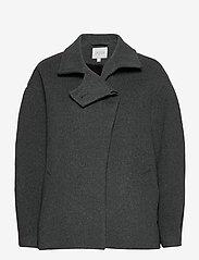 Dagmar - Velma - wool jackets - grey melange - 0