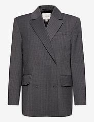 Dagmar - Charlotte pinstripe - oversized blazers - grey pinstripe - 0