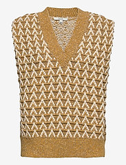 Dagmar - Flora - knitted vests - yellow multi - 0