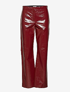 Hedi lacquer - casual housut - burgundy