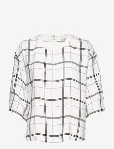 Lily - long sleeved blouses - white check