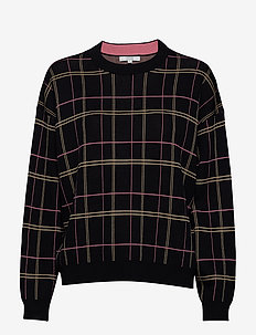 Kayla - sweatshirts - black check
