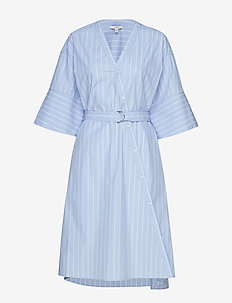 Cassy - robes portefeuille - blue stripe