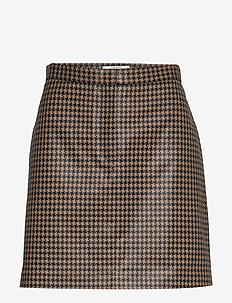 Bianche check - short skirts - camel check