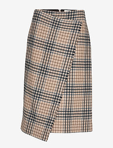 Darda long - midi - large camel check
