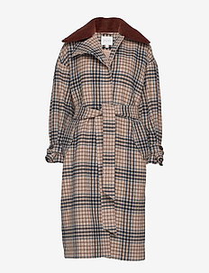 Rosalie - LARGE CAMEL CHECK