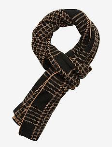 Check jacquard scarf - CAMEL/BLACK