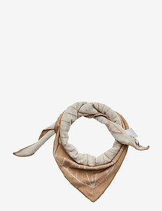 Grid scarf small - scarves - camel