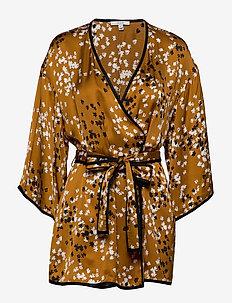 Alanis - kimonoer - caramel print