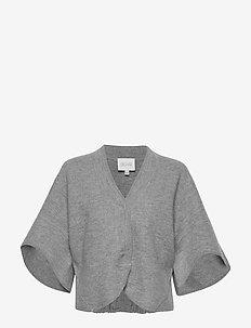 Bea - crop tops - grey melange