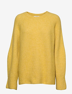Emily round neck - tröjor - yellow