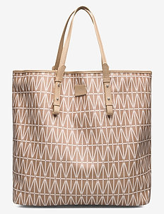 Shopping bag - fashion shoppers - camel