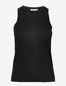 Camelia - sleeveless tops - black